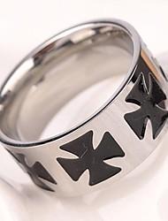 Men's Europe Pesonality Nightclubs Cross Titanium Steel Ring