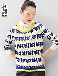 toyouth ® 2014 nouveaux hiver Art Institute vent pull en tricot