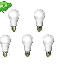 15W E26/E27 Lampadine globo LED A60(A19) 1 Illuminazione LED integrata 1260 lm Bianco caldo AC 100-240 V 5 pezzi