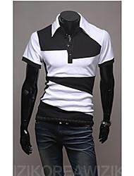 johnny col montant de mode manches courtes Tee-shirts pour hommes