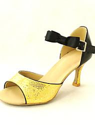 Customized Women's Sparkling Glitter Ankle Strap Latin / Ballroom Women's Dance Shoes