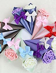12 Stück / Set Geschenke Halter-Pyramide Kartonpapier Satin Zuckertüten Nicht personalisiert