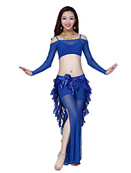 Belly Dance Dancewear Women's Tulle&Chiffon Gorgeous Outfits Including Top, Bottom, Belt(More Colors)