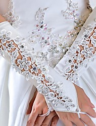 The Bride Wedding Gloves Lace Sewn Beads