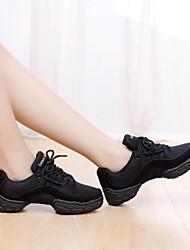 danza sneakers spaccati soli pattini di ballo tacco grosso delle donne