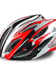 fjqxz 23 évents eps + pc rouge casque de vélo intégralement moulée (58-63cm)
