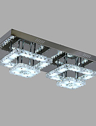 16W Flush Mount ,  Modern/Contemporary Chrome Feature for Crystal Metal Living Room