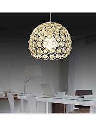 soudage en fer forgé de pulvérisation de peinture absorber les idées modernes de lumière dôme peint cristal noir plafonnier chambre 1 lumière