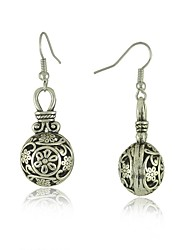 Vintage Tibetan Silver Drop Dangle Earrings for Women