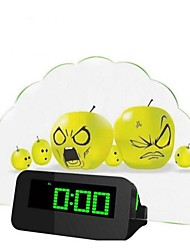 Fan Light Message Board Electronic Clock Mute Luminous Fluorescent LED Alarm Clock