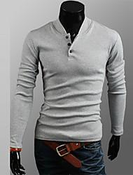 HUIZI Men's Fashion Korea Style Long Sleeve Blouse