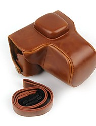 Dengpin® Retro PU Leather Oil Skin Camera Case for Olympus PEN E-PL7 with 17mm/14-42mm Lens