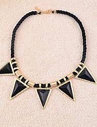 triângulo das mulheres moda exagerada de cadeia curta camisola