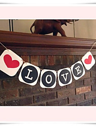 Wedding Décor Romantic LOVE Banner  Engagement Party Bunting Wall Decorations