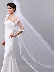 Two-tier Tulle Cathedral Wedding Veils With Cut Edge