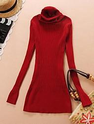 Women's High Collar Slim Long  Sweaters(More Colors)
