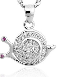 925 Sterling Silver Microscope Snail Pendant