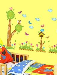 Wall Stickers Wall Decals, Cartoon Tree&Birds PVC Wall Stickers