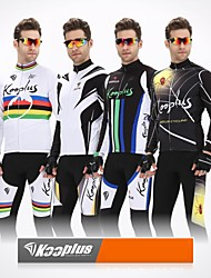 KOOPLUS® Cycling Jacket with Pants Men's Long Sleeve BikeBreathable / Thermal / Warm / Anatomic Design / Front Zipper / 3D Pad /