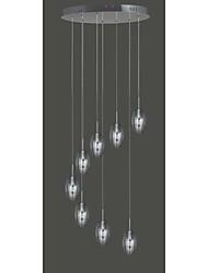 8 Lampada a sospensione in vetro luce moderna contemporanea