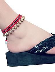 cuerda tejida con campana acentos decorativos para los zapatos