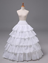 Hochzeit 5 Ebenen bodenlangen Nylon Petticoats rutscht