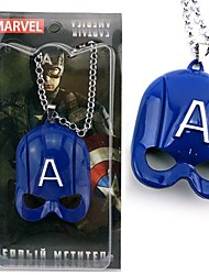 Captain America Mask Necklace Movie Cosplay Accessory