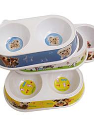 el plato de comida de dibujos animados para mascotas perros (color al azar)