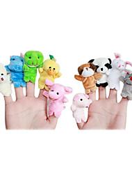 10 pack dedo animal bebé marionetas juguetes educativos (color al azar)