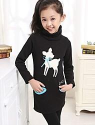 bande dessinée de mode de style coréen impression polaire à long pull blouses à col roulé de fille