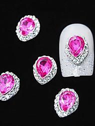 10pcs Pflaume Kristall mit Strass-Linie Legierung Wassertropfen Fingerspitzen Zubehör Nagelkunstdekoration