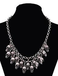 Women's Skull Multi-level Alloy Necklace