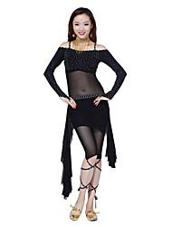 тюль танец живота танцевальная одежда женская&Chinlon элегантные наряды в том числе сверху, гетры, юбки (больше цветов)