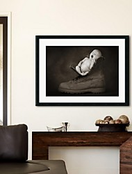 Framed Art Print, People Boot by Tanya Hovey