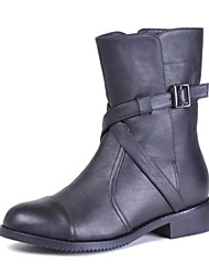 Women's Shoes Round Toe Low Heel Mid-Calf Boots More Colors available
