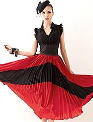 JOANNE KITTEN Women's Multi-color Skirts , Vintage/Beach/Casual/Party/Work Midi