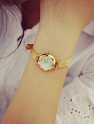 Women's Fashion Circular Alloy  Quartz  Watch Cool Watches Unique Watches