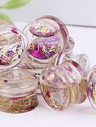 vendas quentes orelha líquido acrílico plugues túnel calibre jóias Brinco de um conjunto de 2 8 milímetros