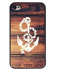Personalized Phone Case - Anchor Design Metal Case for iPhone 4/4S