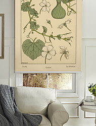 Flowers Of Gourd Pattern Roller Shade