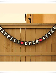 décoration de mariage heureux pour toujours bannière noire lieu de bruant photo décoration prop