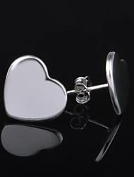 dora de moda coração silvering ocasional brincos