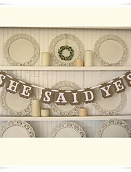 "Wedding Décor "" SHE SAID YES""  Party Banner Engagement Decorations"