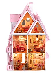 Large Dream Villa DIY Wood Dollhouse Including All Furniture