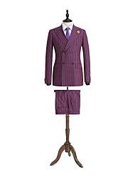 rayas moradas traje de chaqueta en forma de lana