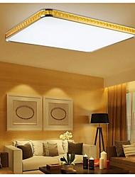 Putian@ 32W Flush Mounte LED Light Modern Golden Acrylic with Light Ajustable