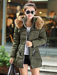 история женщин сплошной цвет искусственного меха воротник оболочка пальто