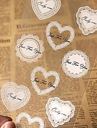 90pcs Heart Lace Stickers DIY Gift Candy Box Baking Craft Packaging Seal Baby Shower Wedding Party Decorations