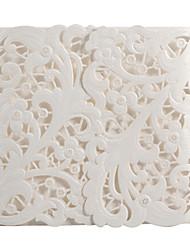 conception de la flore magnifique mariage blanc invitation ensemble de 20/50