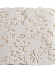 projeto flora lindo convite de casamento branco-set de 20/50